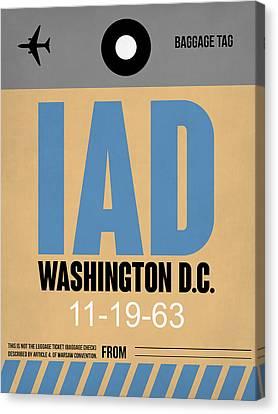 Washington D.c. Airport Poster 3 Canvas Print by Naxart Studio