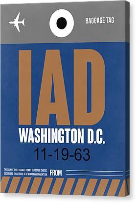 Washington D.c. Airport Poster 4 Canvas Print by Naxart Studio