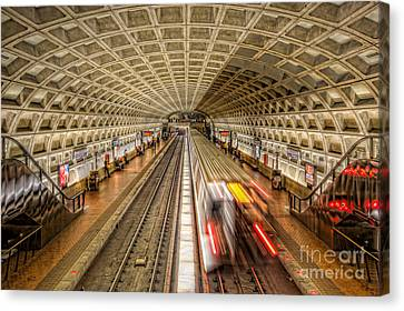Washington Dc Metro Station Xi Canvas Print by Clarence Holmes