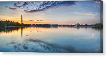 Washington Dc Panorama Canvas Print by Sebastian Musial
