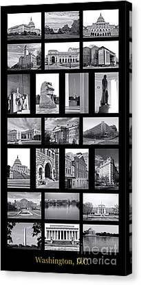 Washington Dc Poster Canvas Print by Olivier Le Queinec