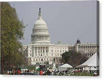 Washington Dc - Us Capitol - 01134 Canvas Print by DC Photographer