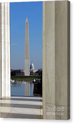 Washington Landmarks Canvas Print by Olivier Le Queinec