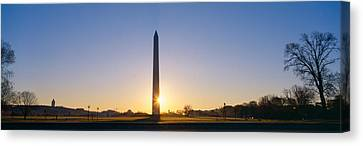Washington Monument At Sunrise Canvas Print by Panoramic Images
