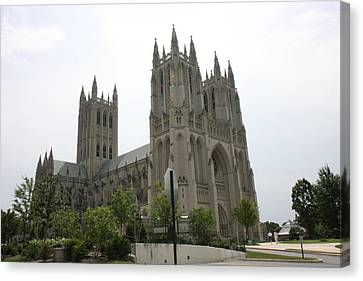 Washington National Cathedral - Washington Dc - 0113112 Canvas Print by DC Photographer