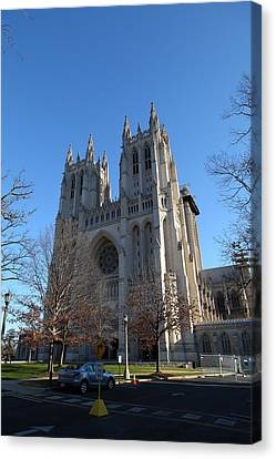 Washington National Cathedral - Washington Dc - 0113115 Canvas Print by DC Photographer