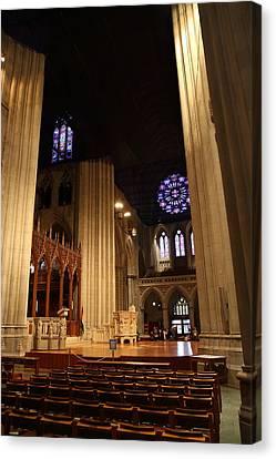 Washington National Cathedral - Washington Dc - 011314 Canvas Print by DC Photographer