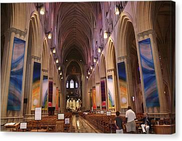 Washington National Cathedral - Washington Dc - 011376 Canvas Print by DC Photographer