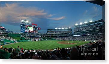 Washington Nationals In Our Nations Capitol Canvas Print by Thomas Marchessault