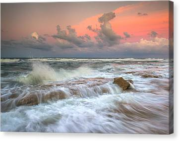 Washington Oaks State Park St. Augustine Fl - The Pastel Sea Canvas Print by Dave Allen