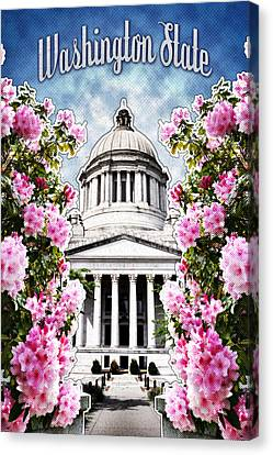 Washington State Capitol Canvas Print by April Moen