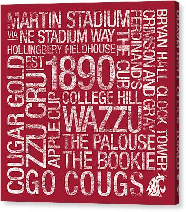 Washington State College Colors Subway Art Canvas Print by Replay Photos