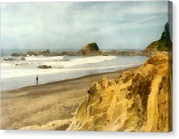 Washington State Seastacks Canvas Print by Michelle Calkins