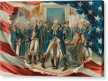 Washington Taking Leave Of His Officers Canvas Print by Anonymous