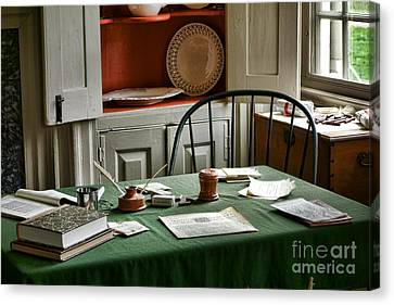 Washington Wrote Here Canvas Print by Olivier Le Queinec