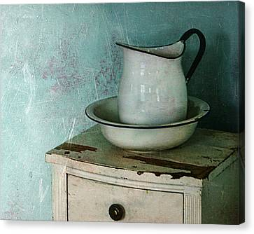 Washstand Still Life Canvas Print by Nikolyn McDonald