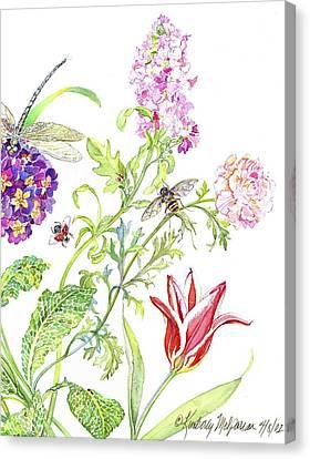 Wasp And Ranucula Canvas Print by Kimberly McSparran