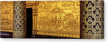 Wat Mai Luang Prabang Laos Canvas Print by Panoramic Images