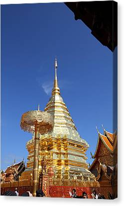 Wat Phrathat Doi Suthep - Chiang Mai Thailand - 011314 Canvas Print by DC Photographer