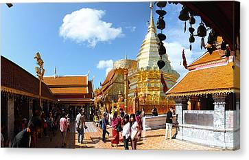 Wat Phrathat Doi Suthep - Chiang Mai Thailand - 011321 Canvas Print by DC Photographer