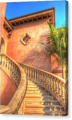 Watch Your Step And Welcome Canvas Print by Heidi Smith