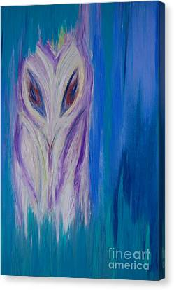 Watcher In The Blue Canvas Print by First Star Art