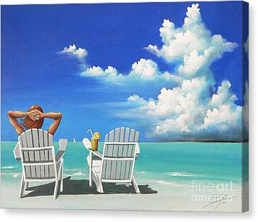 Watching Clouds Canvas Print by Susi Galloway