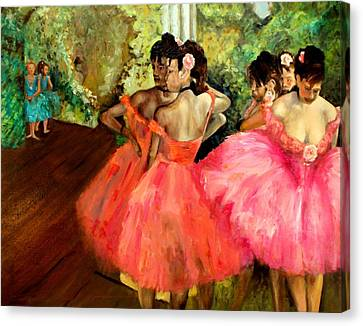 Watching Degas Canvas Print by Graham Keith