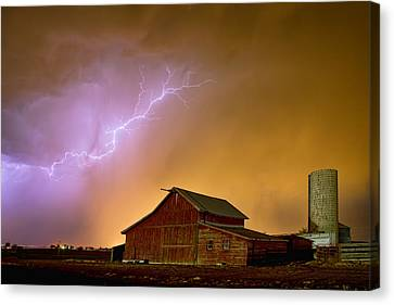Watching The Storm From The Farm Canvas Print by James BO  Insogna