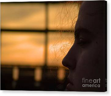 Watching The Sunset Canvas Print by Robyn King