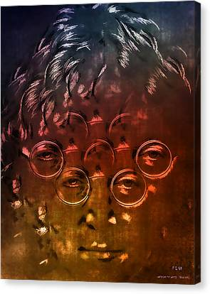 Watching The Wheels Canvas Print by Pedro L Gili