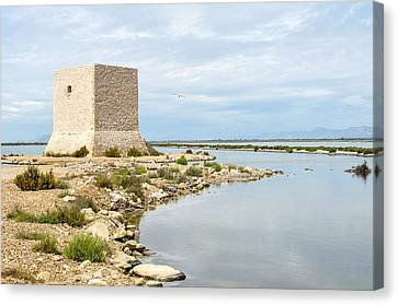 Watchtower In The Salt Lakes Canvas Print by Tetyana Kokhanets