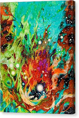 Water And Fire Canvas Print by Cristina Rutkowski