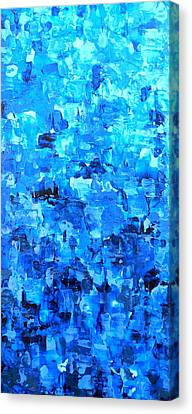 Water And Light Abstract Waterfall Painting Variation Canvas Print by Holly Anderson