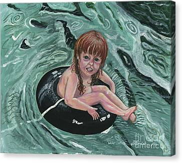 Water Babies Canvas Print by Janis  Cornish