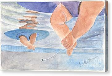 Water Babies Canvas Print by Sheryl Heatherly Hawkins
