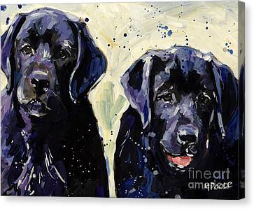 Water Boys Canvas Print by Molly Poole