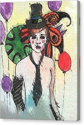 Water Clown Canvas Print by Amy Sorrell
