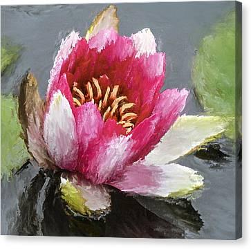 Water Flower Impression Canvas Print by Yury Malkov