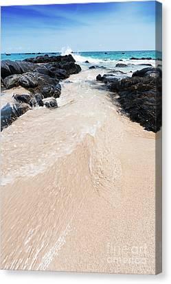 Water Flows Canvas Print by Atiketta Sangasaeng