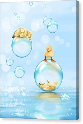 Water Games Canvas Print by Veronica Minozzi