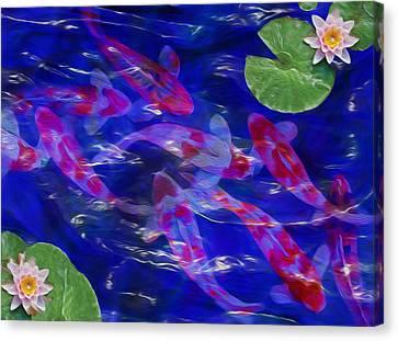 Water Garden Canvas Print by Jack Zulli