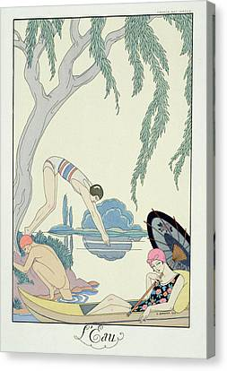 Water Canvas Print by Georges Barbier