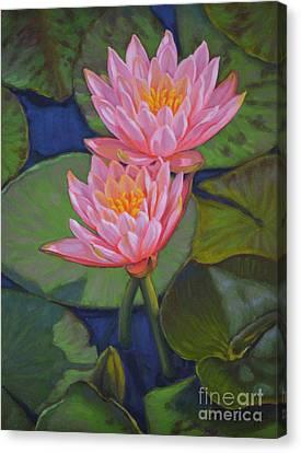 Water Lilies 6 Colorado Couple Canvas Print by Fiona Craig