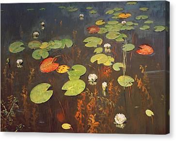 Water Lilies Canvas Print by Isaak Ilyich Levitan