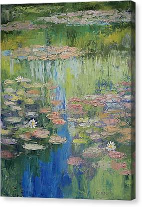 Water Lily Pond Canvas Print by Michael Creese