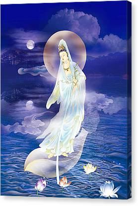 Water Moon Avalokitesvara  Canvas Print by Lanjee Chee