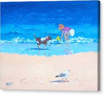 Water Play Canvas Print by Jan Matson