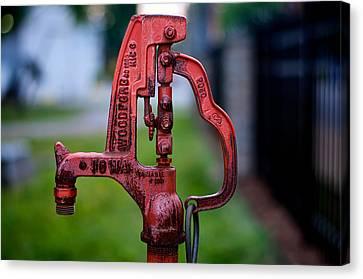 Water Pump Canvas Print by Berkehaus Photography
