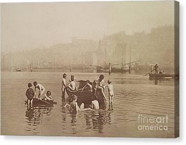 Water Rats Canvas Print by Frank Meadow Sutcliffe